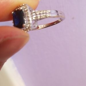 Jewelry - 14k gold natural diamonds natural sapphire ring